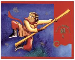 (O 22 A) Australia Chrismtas Island - Maxicard - Chinese New Year Of The Monkey - Christmas Island