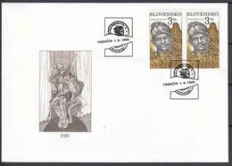 Slovakia 1998, Mutiny At Kragujevac, Viktor Kolibik Mi#312 FDC - Cartas