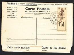 France Infanterie 1940 Full Label Postal Card, Mint - France