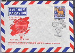 Yugoslavia 1967 Fishing And Hunting Fair, Baloon Post Aerogramme - Brieven En Documenten