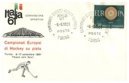 (O 23) EUROPA CEPT - Italy - 1960 - For 1961 Hockey Su Pista European Championship (ECSSA Sydney) - Europa-CEPT