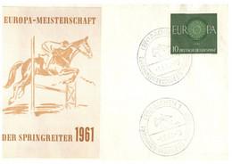 (O 23) EUROPA CEPT - Germany - 1960 - For 1961 Europa Meisterschaft (ECSSA Sydney) Horse Jumping - Equestre - Europa-CEPT