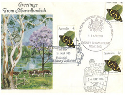(O 25) Australia - 1980's - Cover With Many Stamps And Postmarks / Murwillubah (Butterfly) - Andere