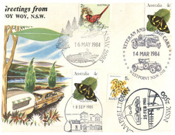 (O 25) Australia - 1980's - Cover With Many Stamps And Postmarks / Woy Woy (Butterfly / Birds) - Andere