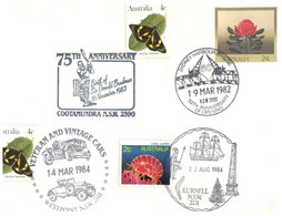 (O 25) Australia - 1980's - Cover With Many Stamps And Postmarks / Donald Bradman Cricketer (butterfly Stamps) - Andere