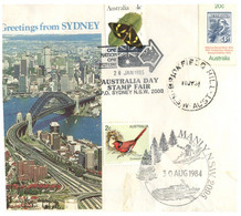 (O 25) Australia - 1980's - Cover With Stamps And Postmarks / Sydney (butterfly - Birds) - Andere