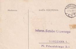 POLAND 1939 Postcard Gniezno ZAPRASZA - 1919-1939 Republic
