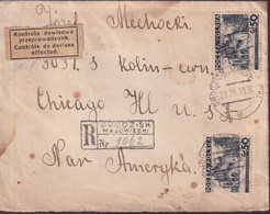 POLAND 1938 Cover Currency Control Grodzisk - 1919-1939 Republic