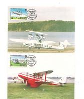 ALDERNEY CARTE POSTALE AVIONS/AIRCRAFT 19 MAR 1985 - Alderney
