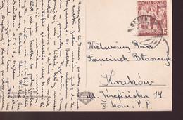 POLAND 1939 Postcard RABKA To Krakow - 1919-1939 Republic