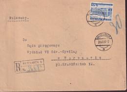 POLAND 1937 Registered Cover WLOCLAWEK To Warsaw - 1919-1939 Republic