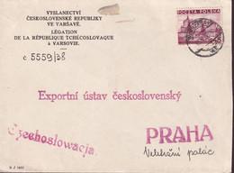 POLAND 1938 Cover Warsaw To Czechoslovakia - 1919-1939 Republic