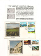 ALDERNEY  PAYSAGES/ VIEWS  ENVELOPPES 1er JOUR . 14 JUIN 1983 - Alderney