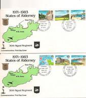 ALDERNEY  F.D.C. 14 JUNE 1983 PAYSAGES/VIEWS - Alderney