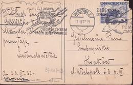 POLAND 1937 Warsaw Postcard Special Cancel - 1919-1939 Republic
