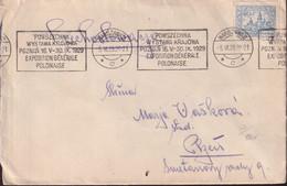 POLAND 1929 Warsaw Exposition Roller Cancel Cover - 1919-1939 Republic