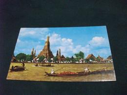 Annullo Rosso THAILAND DHONBURI TEMPLE OF DAWN WATARUN CHAO PHAYA RIVER PIEGA ANG. THAILANDIA - Tailandia