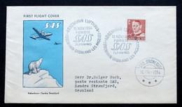 Denmark First SAS Flight Copenhagen - Greenland - Los Angeles 15-11-1954 ( Lot 375 ) - Danimarca