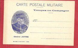 FM CARTE POSTALE  DE FRANCHISE MILITAIRE (JOFFRE)VIERGE - Military Service Stampless
