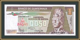 Guatemala 1/2 Quetzal 1986 P-65 (65a.4) UNC - Guatemala
