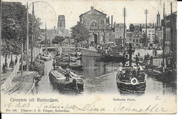 """GROETEN UIT ROTTERDAM """" Delftsche Poort """"   N°521 - Rotterdam"""
