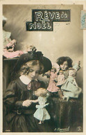 Serie De 3 Cartes - Fillette  Poupée - Reve De Noel - H Manuel    N 951 - Niños