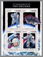 SIERRA LEONE 2020 MNH Alexei Leonov 1st Spacewalk Weltraumspaziergang M/S - IMPERFORATED - DHQ2037 - Raumfahrt