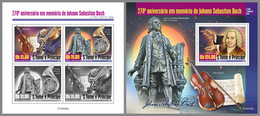 SAO TOME 2020 MNH Johann Sebastian Bach Composer Komponist Compositeur M/S+S/S - OFFICIAL ISSUE - DHQ2037 - Music