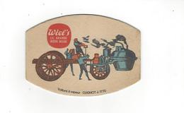 SOUS BOCKS  WIEL S  BIERE BELGE  VOITURE A VAPEUR CUGNOT J 1770 **** A   SAISIR  ****** - Beer Mats