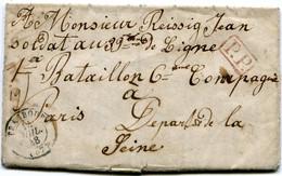 LAC écrite En Alsacien Pour Un Soldat à PARIS Le 14/07/1848 !! Avec Dateur T 15 De STRASBOURG Et Cachet Rouge P.P. - 1801-1848: Voorlopers XIX