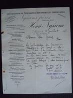 1905 Heni Nyssens Anvers Importation De Spécialité Industrielles Américaines Lettre Machines à Théodore Gravez à Mons - Belgium