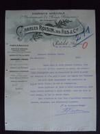 1905 Charles Roisin, Fils Chàtelet Belgique Fabrique D'instruments De Pesage Poinçonnés Lettre à Théodore Gravez à Mons - Belgium
