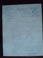 1906 Raphael Pollet Tournai Ingénieur Fabrique & épuration D'huiles Savonnerie Lettre à Théodore Gravez à Mons - Belgium