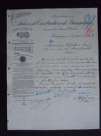 1908 Ateliers De Construction De Bracquegnies Matériel De Chemins De Fer Lettre à Théodore Gravez à Mons - Transport