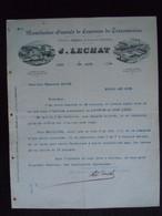 1894 J. Lechat Gand Mannfacture Générale De Courroies De Transmission à Théodore Gravez Boussu - Belgium