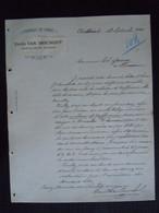 1894 Emile Van Imschoot Chatelineau Belgique Fabrique De Cirage Lettre à Théodore Gravez Boussu - Chemist's (drugstore) & Perfumery