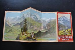 WENGERNALP BAHN Fahrplan 1912 Horaire Jungfrau Mûrren Alpenruh Grindelwald Wengen Alpiglen Dépliant Publicitaire RARE - Europe