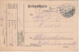 Bayern - Feldpost-Exp. 8. Bayer. Res.Div. Feldpostkarte Zensur N. München 1916 - Bayern (Baviera)