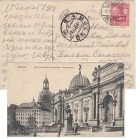DR - 10 Pfg. Germania Ansichtskarte N. RUSSLAND Dresden - Moskau 1912 - Covers & Documents
