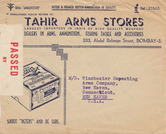 India 1940: Tahir Arms Store, Fishing, Bombay To New Haven/USA, Censor - Zonder Classificatie