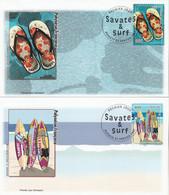 Polynésie FDC 2007 - Yvert  798 Et 799 Savates Et Surf - FDC