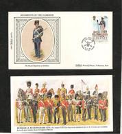 ALDERNEY   RÉGIMENT DE LA GARNISON F.D.C. 24-9-85 - Alderney