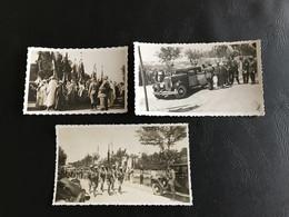 Lot 3 Photos MEKNES MAROC 1933 - 2e Etranger - Arrivée Reine De Roumanie Hotel Transat - Places