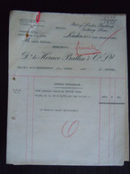 1929 Invoice Transport S.s. Stolzenfels Bombay To Antwerp To Gare Nechin Crused Myrabollams Louis Poullet Estaimbourg - United Kingdom