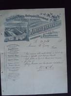 1898 Moreau Frères Valenciennes Couteaux & Porte-couteaux De Diffusion Limes Lettre Pour Boussu Belgique - France
