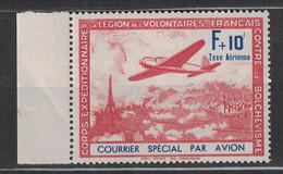 FRANCE - LVF LEGION Des VOLONTAIRES FRANCAIS 1942 YVERT N°3 NEUF ** Avec BORD DE FEUILLE - Kriegsausgaben