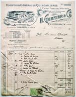 Facture 1922 - COMMERCY (Meuse) - H. GARNIER Quincaillerie Fers Fontes Métaux Serrurerie Chauffage Eclairage /F44 - France