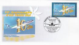 Polynésie FDC 2008 - Yvert  856 - 10 Ans D' Air Tahiti Nui - Aviation - FDC