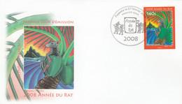 Polynésie FDC 2008 - Yvert  828 Horoscope Chinois Année Du Rat - FDC