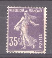 France  :  Yv  142  **     ,   N2 - 1906-38 Säerin, Untergrund Glatt